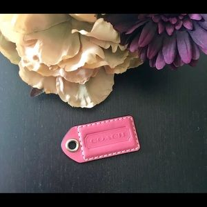 COACH Pebbled Leather Replacement Hangtag Key Fob