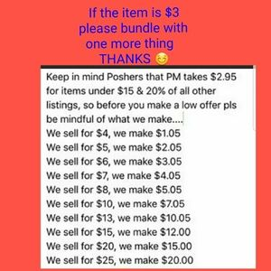 Other - Please bundle  $3 items with at least one more thi