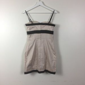 H&M bodycon dress blush pink black trim