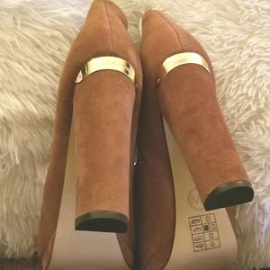 Mk suede ankle boots