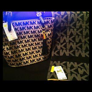 MK Monogram Bag and Scarf
