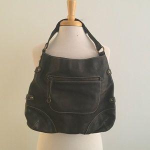 NWT J Crew Dark Brown Leather Shoulder Bag