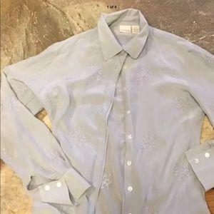 Merona silk blouse Sz s