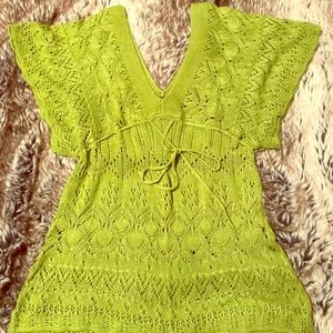 EUC crocheted style beautiful top