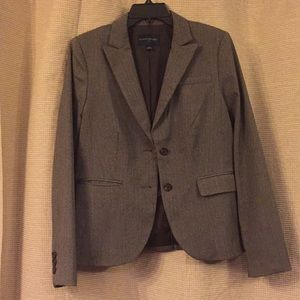 Brown blazer from Banana Republic