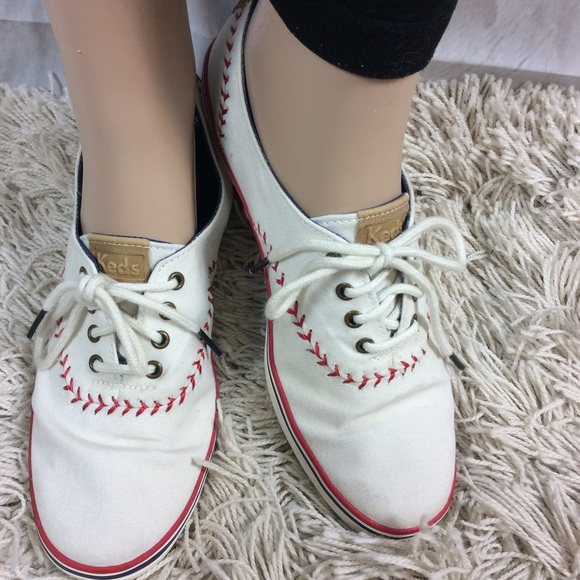 341f86f71ea Keds Shoes - Keds white sneakers w  baseball stitch detail 7