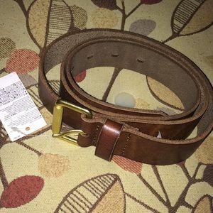 Gap belt leather