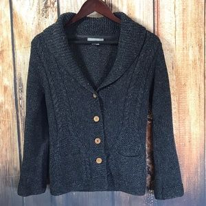 J.Crew Knit by Hand Chunky Cable Knit Cardigan