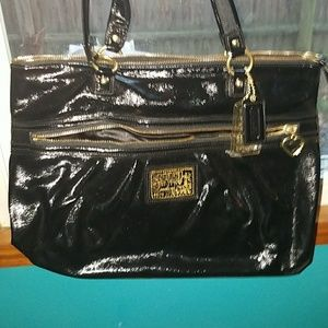 Black coach bag used 1x
