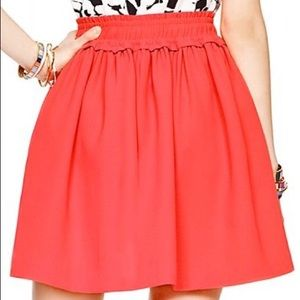 kate spade ♠️ cute bright gathered full skirt