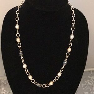 QVC sterling pearl necklace