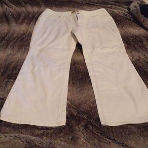 Seven7 Bootcut Plus sz 18 white jeans