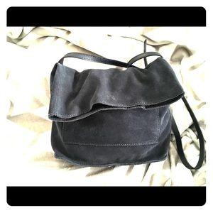 Navy Blue suede cross bag/purse