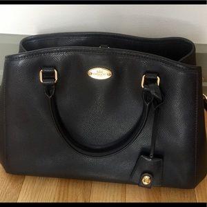 Midnight Blue leather Coach Handbag