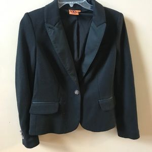 Tory Burch Black Jeweled Blazer