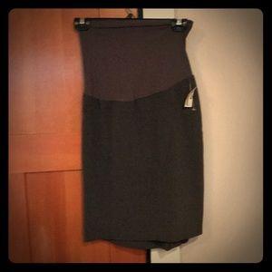 Motherhood Maternity Grey Pencil Skirt