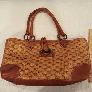 Tommy Bahama Woven Purse Tote Bag