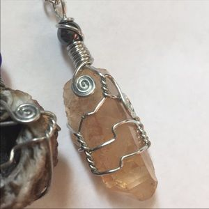 Jewelry - 💞Wire Wrapped Citrine Necklace💞