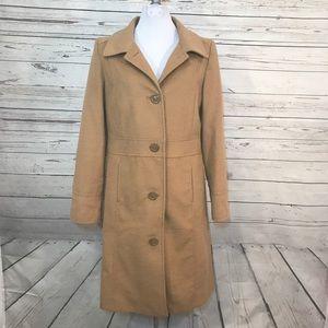 Merona wool trench pea coat camel brown medium