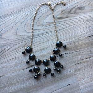 J Crew Black Bauble Gold Necklace