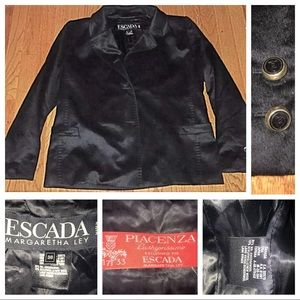 Escada black luxury women's blazer size 38 US 8