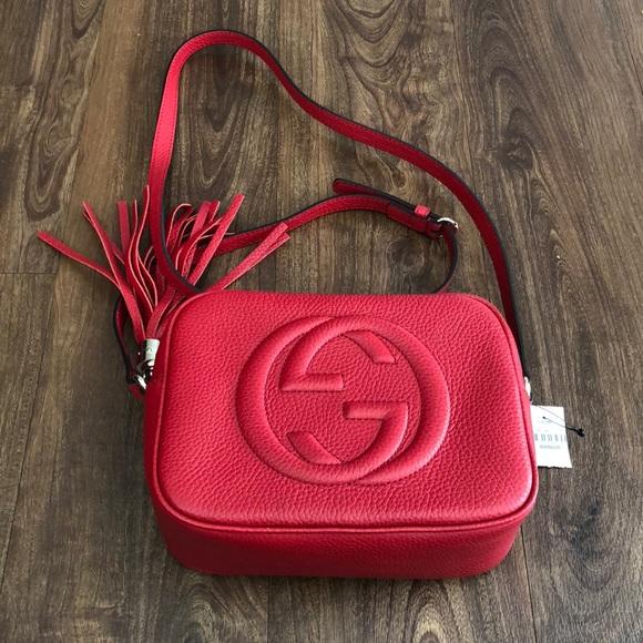 5fe381797708 Gucci Bags | Bnwt Red Soho Disco Bag | Poshmark