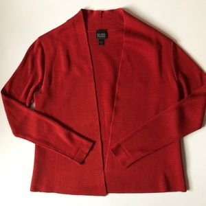 Eileen Fisher Red Cardigan
