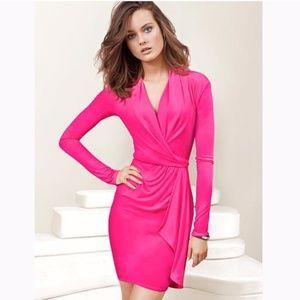 Victorias Secret Hot Pink Faux Wrap Dress
