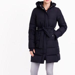 J. Crew Factory Long Puffer Jacket size: M