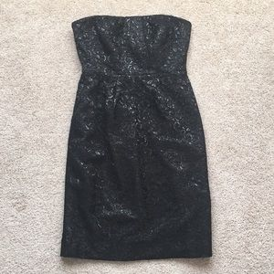 J. Crew black strapless dress sz 0