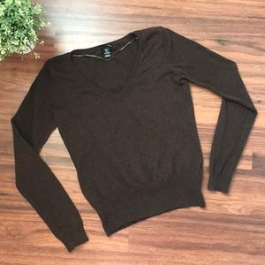 H&M Brown v neck cotton sweater