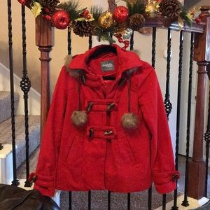 Charlotte Russe Coat in red❤️