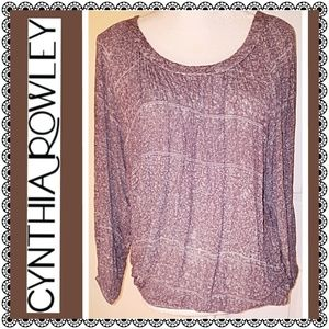 Cynthia Rowley scoop neck sweater
