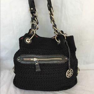 The Sak black woven handbag