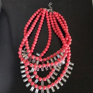 NWOT Banana Republic Coral Layered Necklace