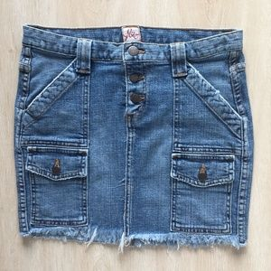 Joie Blue Denim Jean Mini Skirt Size:2