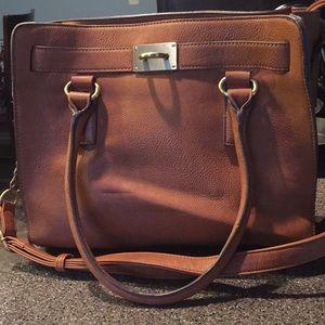 Large faux leather Melie Bianca satchel