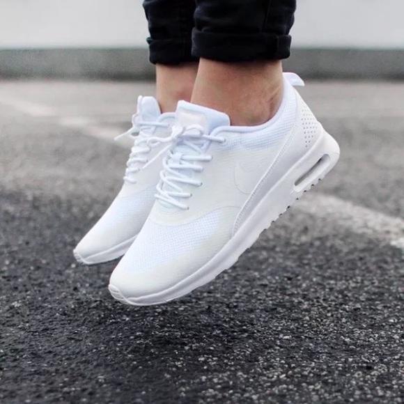 a33aec8cbde0b Nike Shoes   Womens Air Max Thea Triple White Sneakers   Poshmark