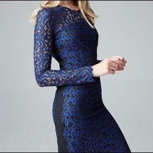 Elie Tahari Bellamy Blue Lace Dress