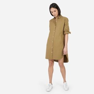 Everlane Khaki Twill Shirtdress