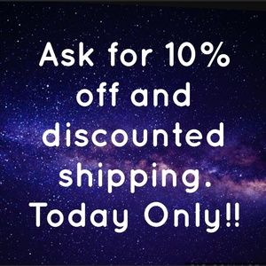 Ask 10% off & $4.99 Shipping Today Only