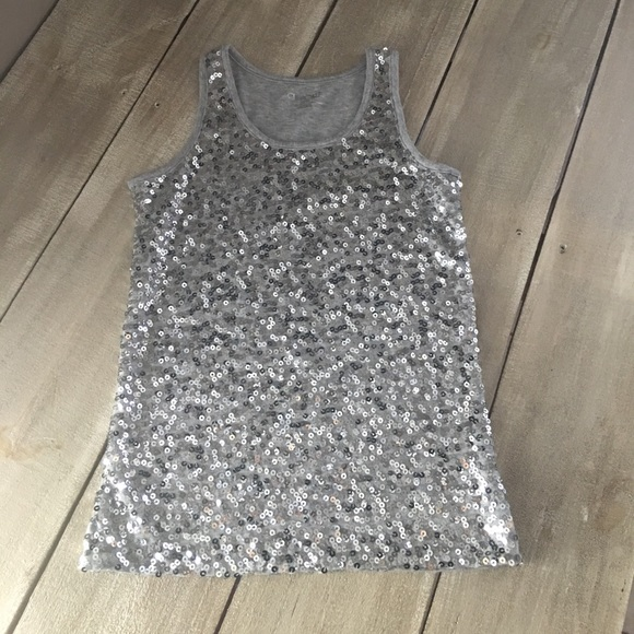960954298ac8c Cherokee Other - Silver Dressy Sequin Tank Top for Girls