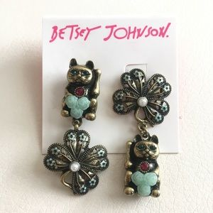 "Betsey Johnson ""Lucky Charms"" Cat Mismatch Ears"