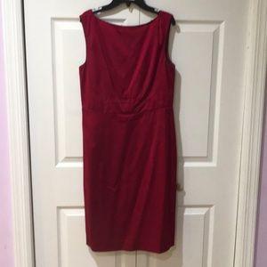 Banana Republic red satin sheath dress