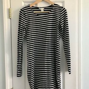 H&M Striped Dress -Black and White Striped, Small