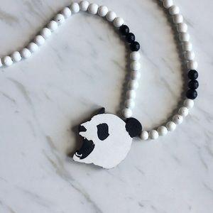 Good Wood Beaded Panda Necklace