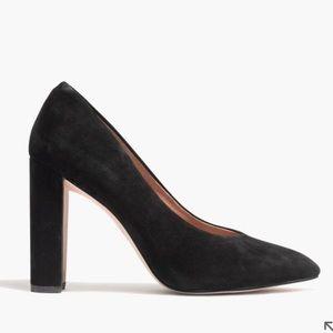 Madewell Hanne Heel black suede pumps like new!