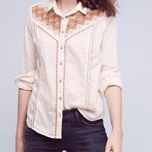 Anthropologie Holding Horses Button Up Top