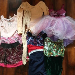 Other - 4t to size 6/7 dance gymnastics leo lot