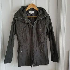 Forever 21 Utility Zip Up Jacket